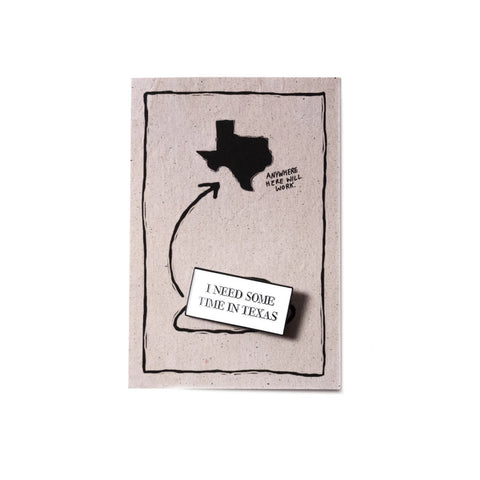 Texas Time Pin