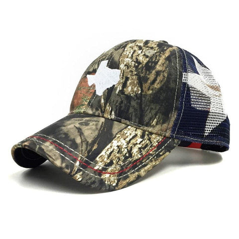 Mossy Oak Texas Flag Trucker Hat - Texas Humor Store - 1