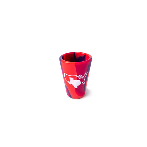 Grand Texas Tie Dye Silipint Shot Glass
