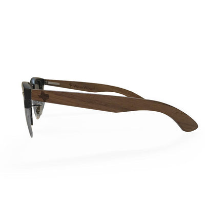 Texas Walnut Metal Frame Sunglasses - Gun Metal Rim
