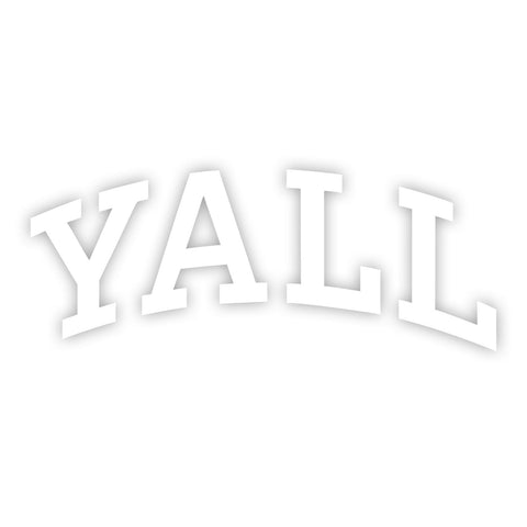 YALL University Car Decal - Texas Humor Store