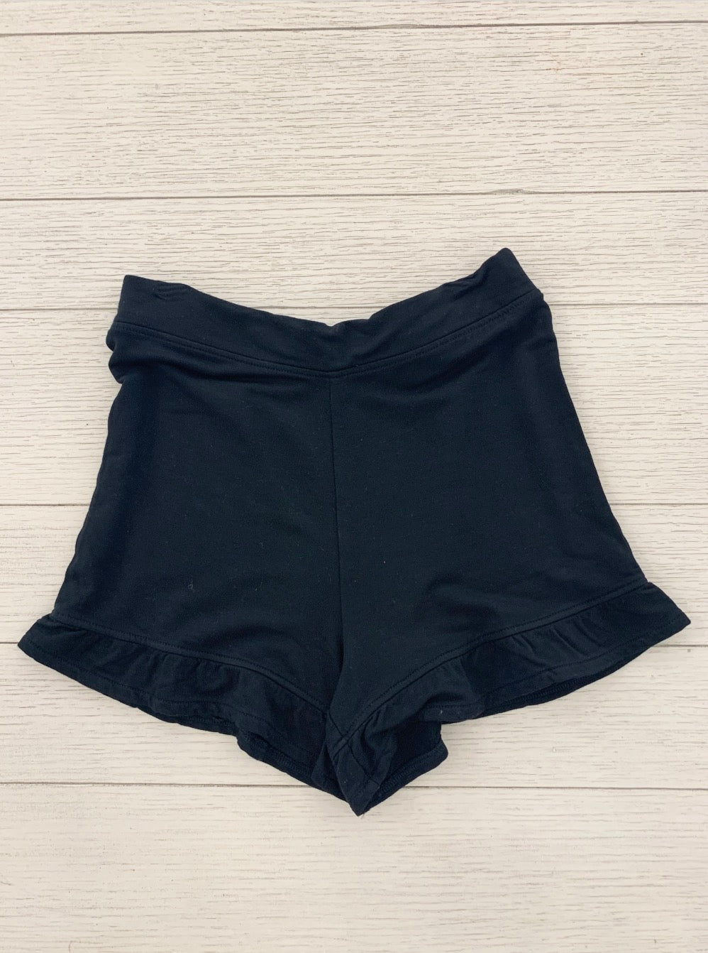 Black Ruffle Short