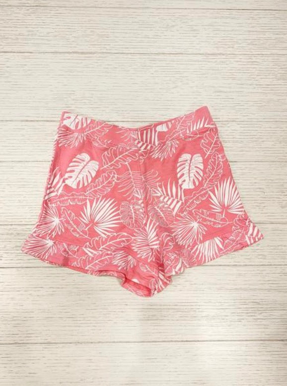 All Over Printed Tropical Ruffle Short