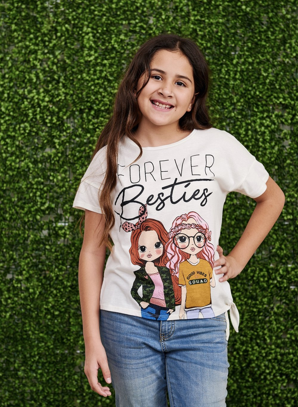 Besties Forever Side Tie Top