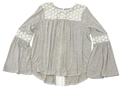 Bell Sleeve Top w/ Back Lacing Details