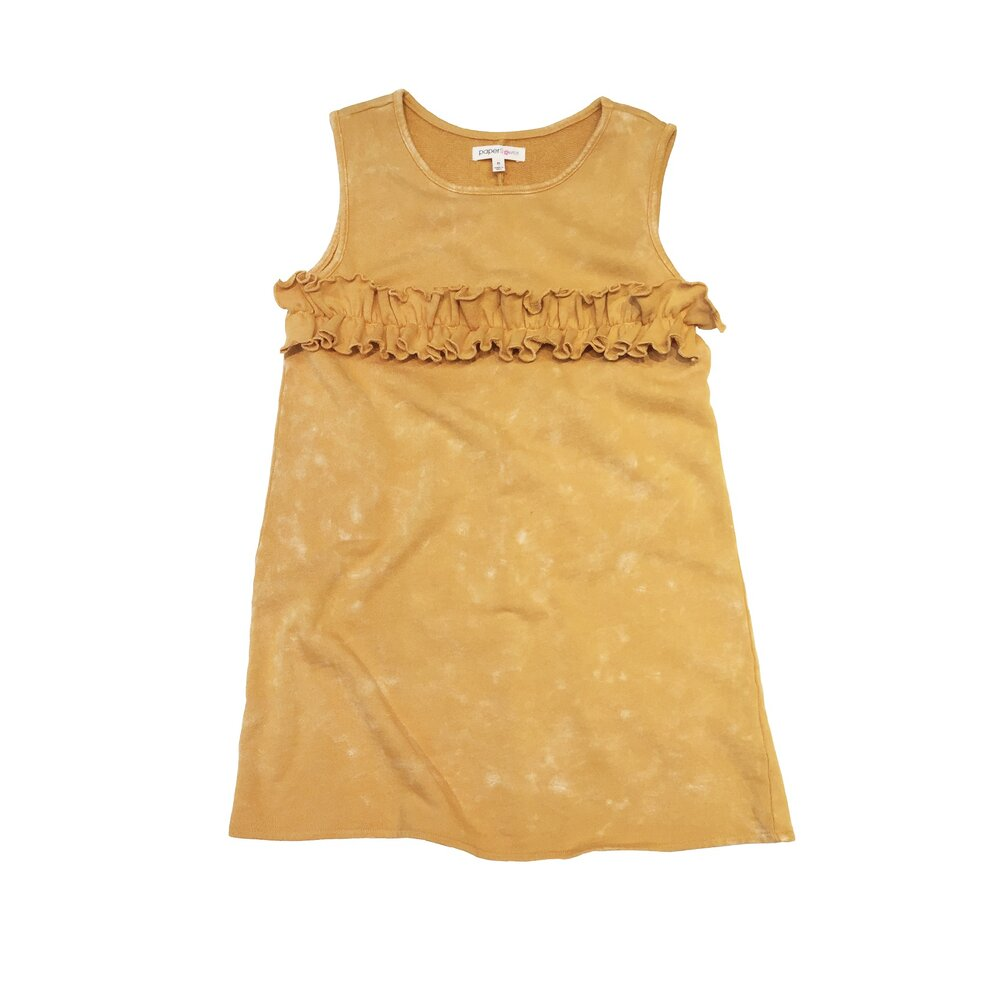 mineral yellow ruffle dress