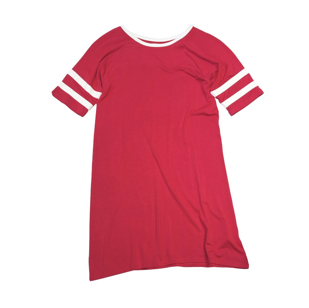 Crimson base ball dress