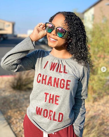 I Will Change The World Flocking Top