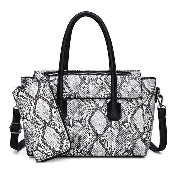 PU Serpentine Embossing Rectangle Tote Bags