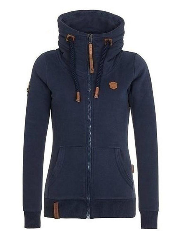 Zipper Regular Standard Hooded Hoodie