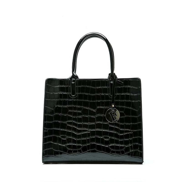PU Alligator Embossing Square Tote Bags