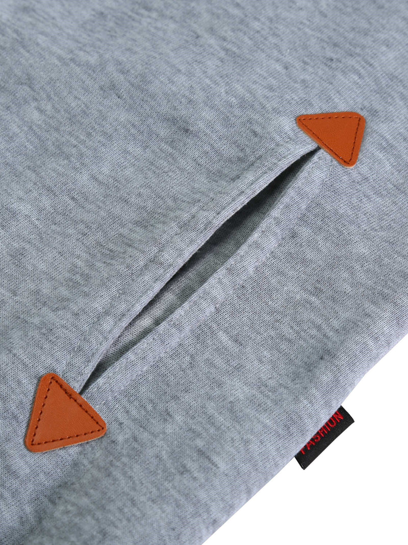 Regular Zipper Color Block Long Sleeve Standard Hoodie