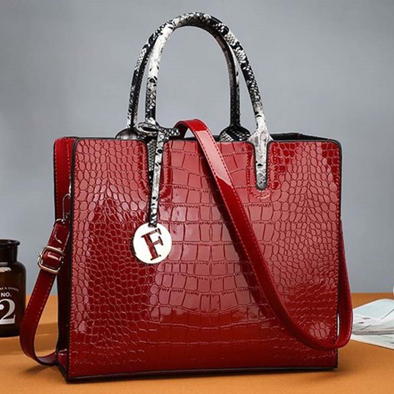 Alligator PU Embossing Square Tote Bags