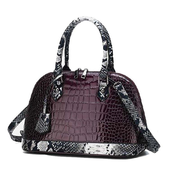 Serpentine Embossing PU Shell Tote Bags