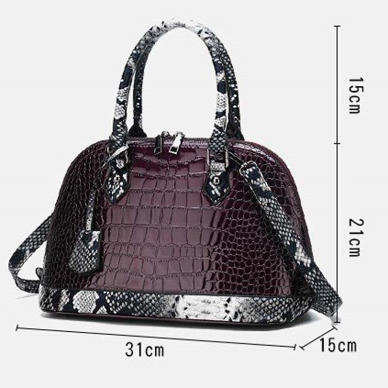 PU Alligator Thread Shell Tote Bags