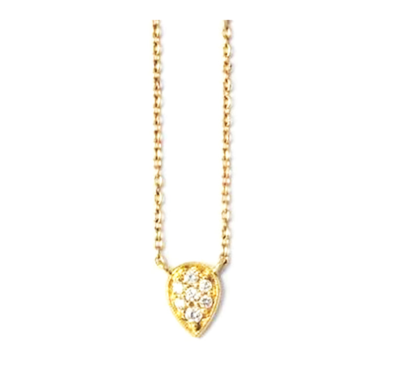 Item No. C050                Pear Diamond Necklace