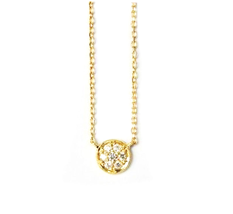 Item No E047     Circle Diamond Necklace