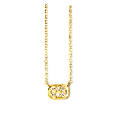 Item No. C048           Rectangle Diamond Necklace