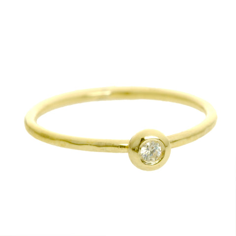 Bead Diamond Ring