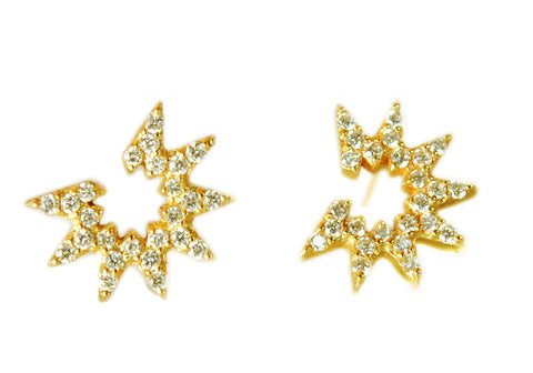 Item No E042                     Estrella Earrings With Diamonds