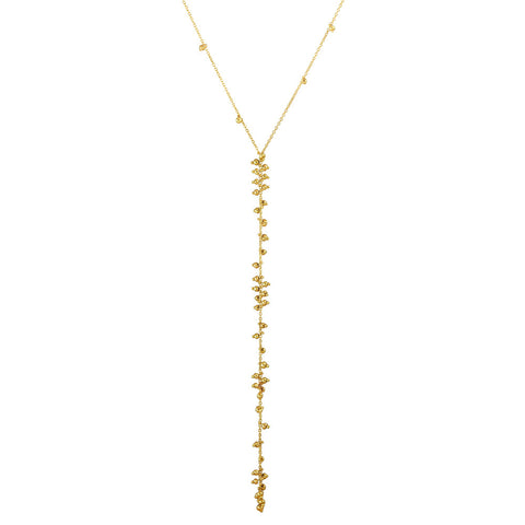 Y Bead Necklace 18K