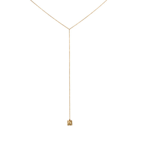 Y Square Necklace