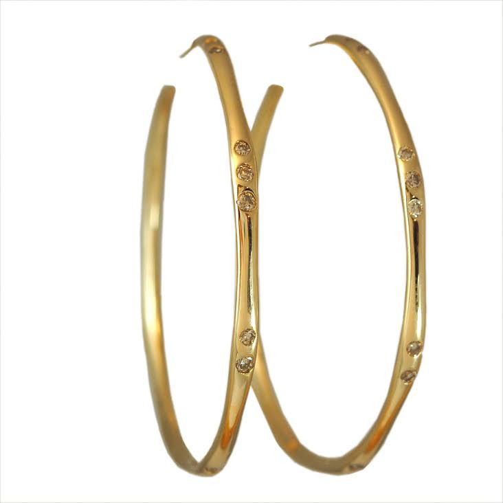Water Diamond Hoops