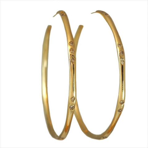 Item No E059 Water Diamond Hoops