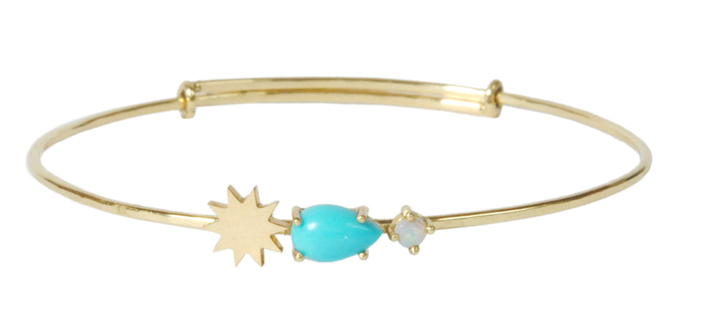 Turquoise and Opal Bracelet