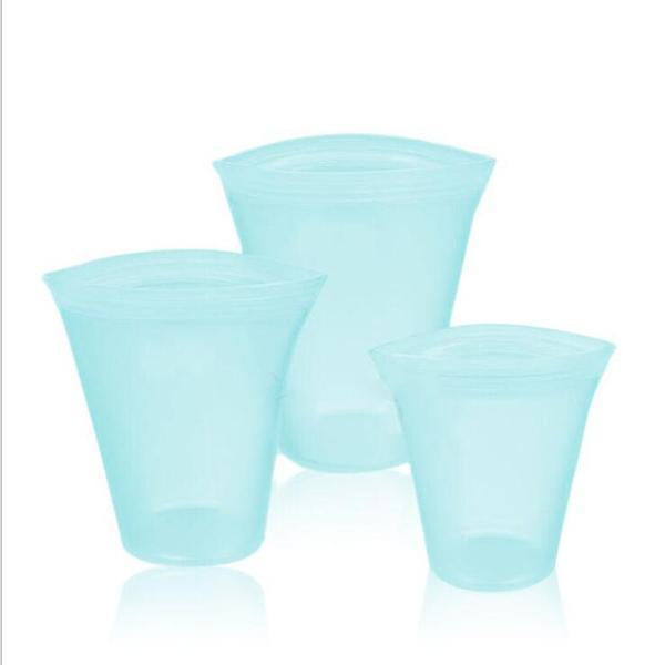 Reusable Silicone Zip Containers(1 Set)