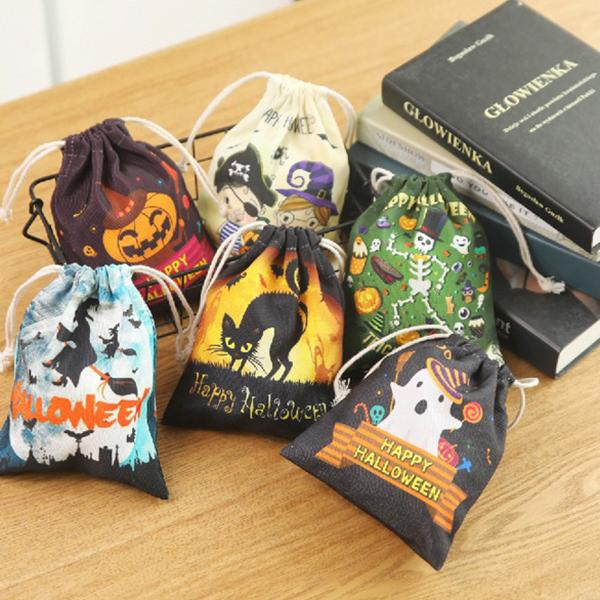 Canvas Halloween Candy Bag