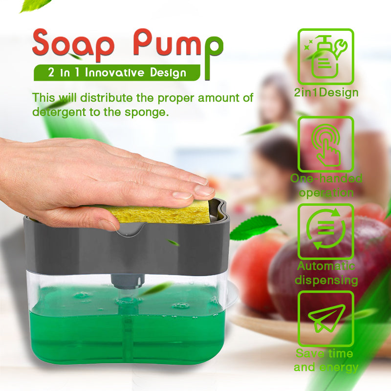 2-in-1Sponge Rack Soap Dispenser