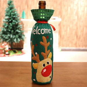 Christmas Decorations Cover For Bottle(3 Pcs)