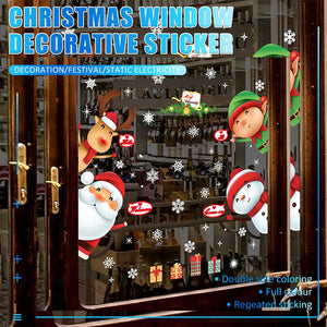 Christmas Window Decorative Sticker
