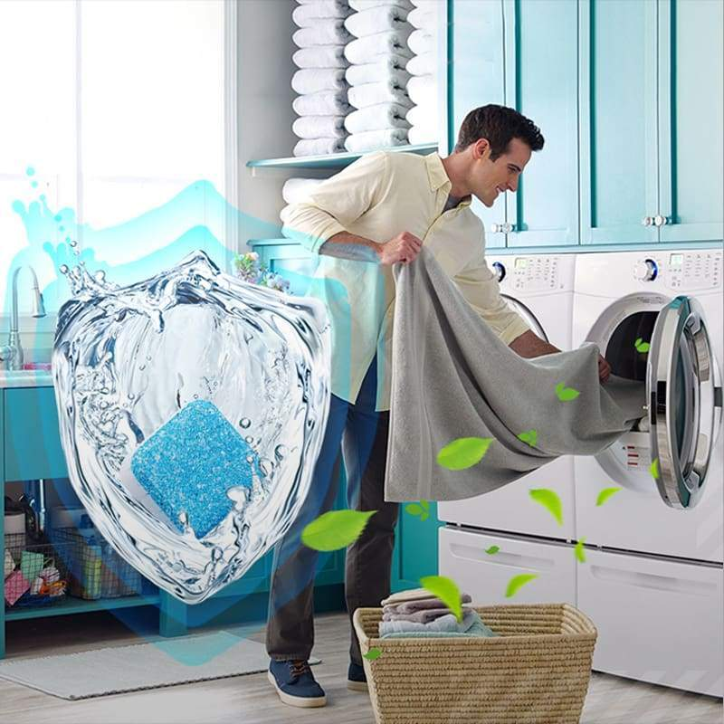 (60% OFF TODAY)Solid Washing Machine Cleaner Effervescent Tablet