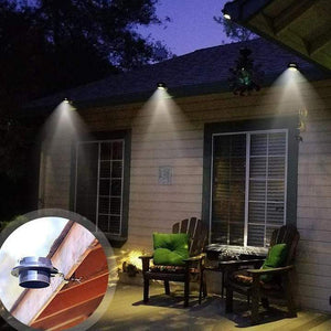 Solar-powered Gutter Lights