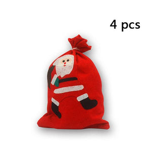 Christmas Santa Gift Sacks (4 Pcs)