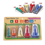 5 Size Bias Tape Maker Tools Set