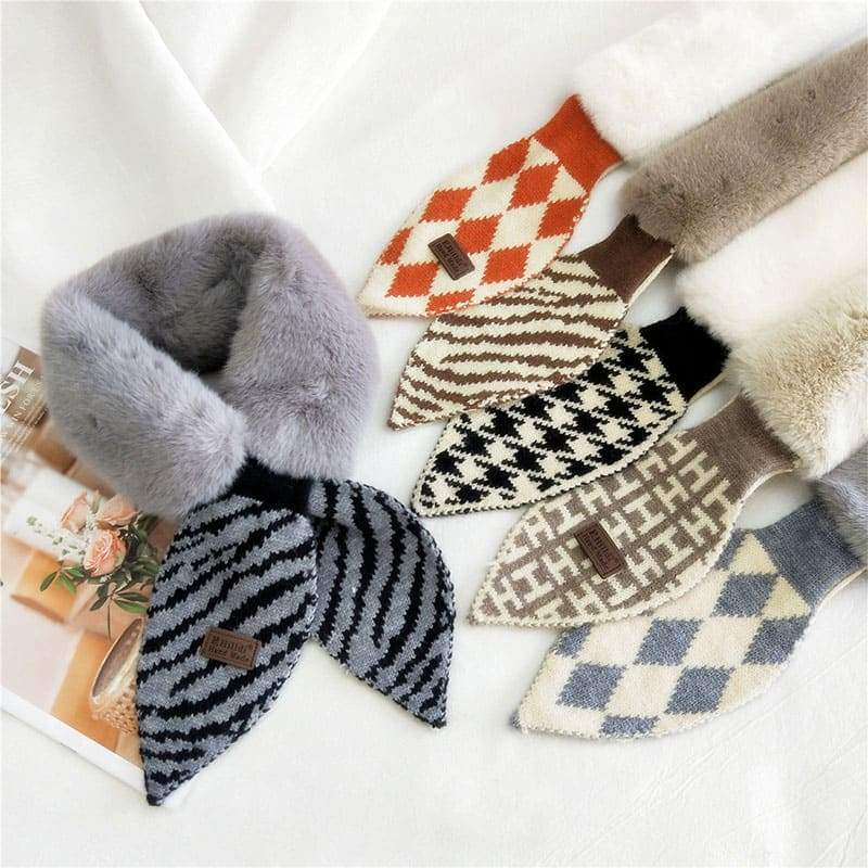 All-match Plush Scarf Collar