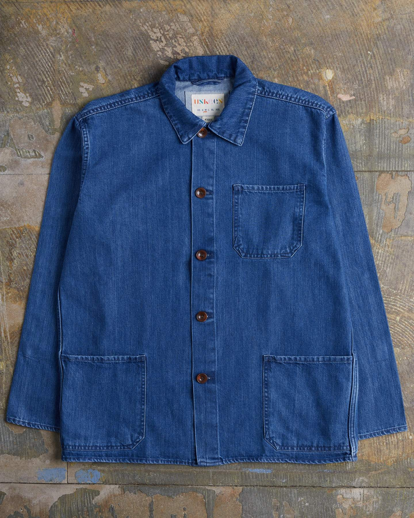 USKEES The #3001 Buttoned Overshirt in Washed Denim