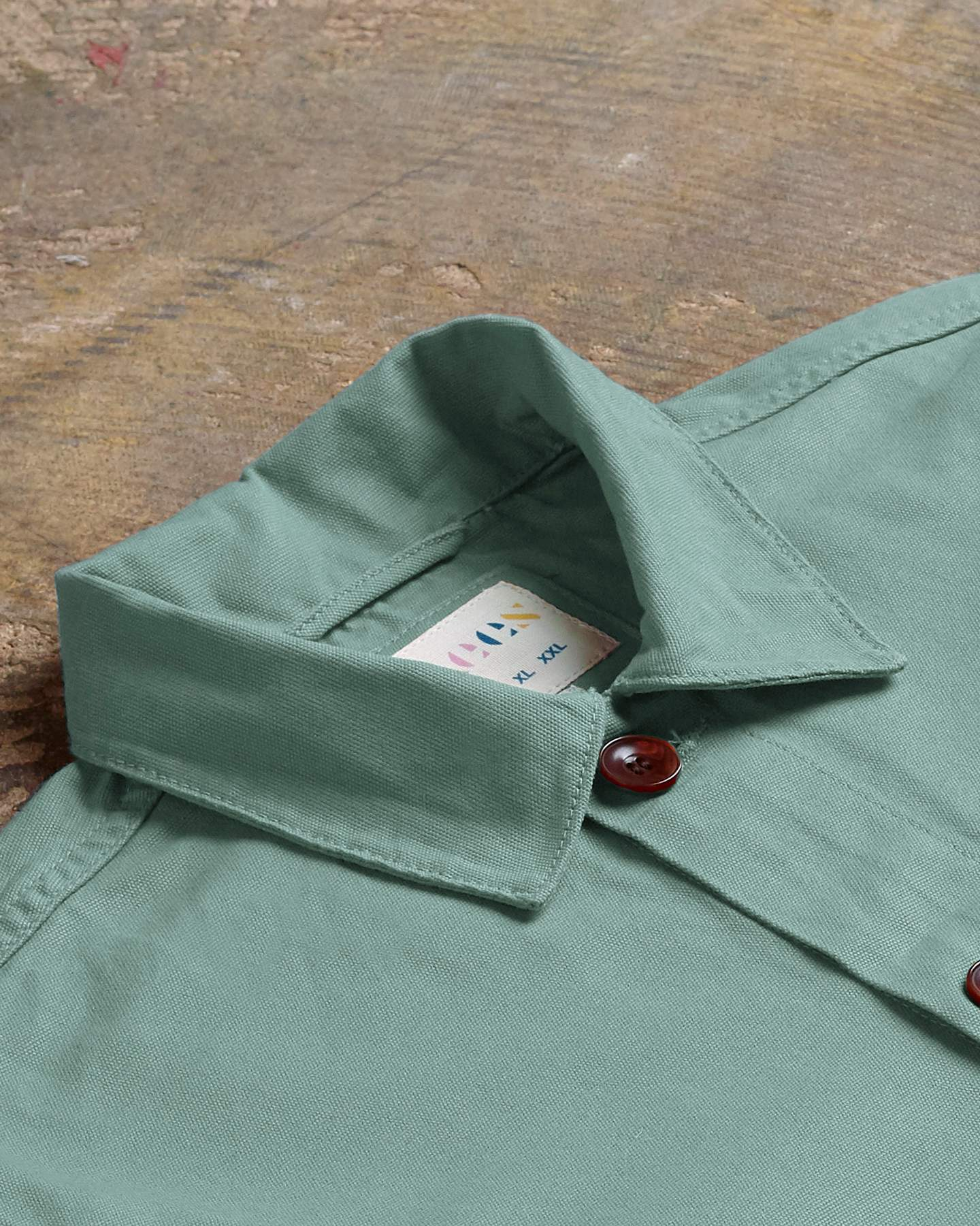 The #3001 Buttoned Overshirt in Jade