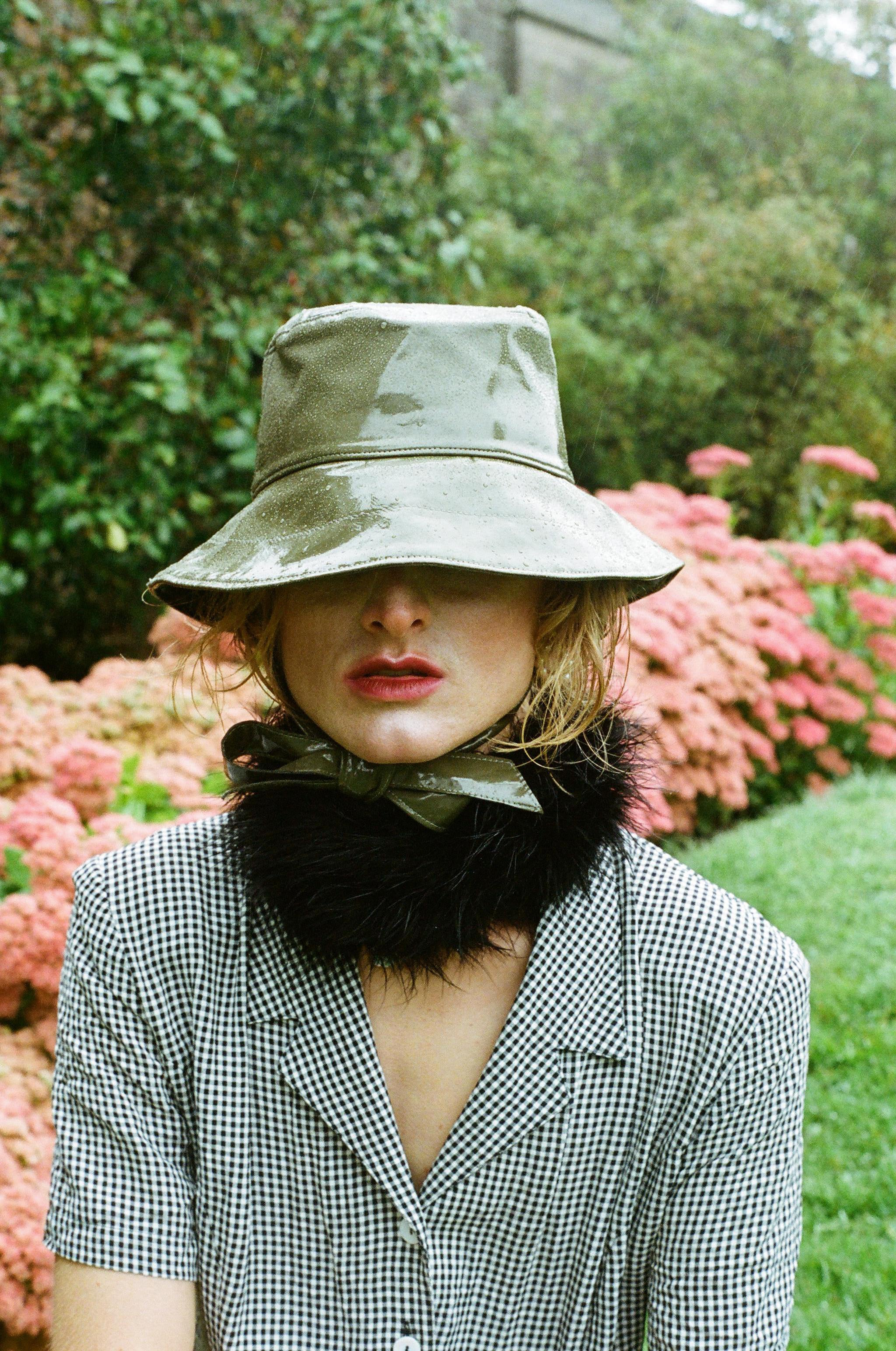 Norah X Camilla Ashley | Rainhat in Khaki