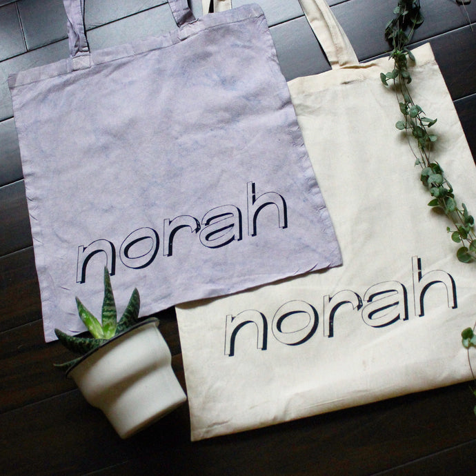 Hand Screenprinted 100% cotton Norah Tote Bag