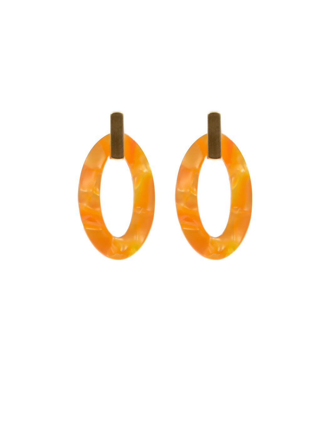 Nordic Muse Citrus Oval Resin Earrings