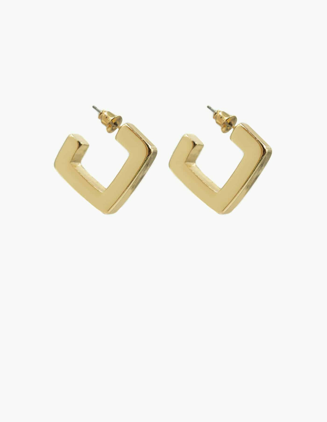 Nordic Muse Thick Square Hoop Earring, Gold