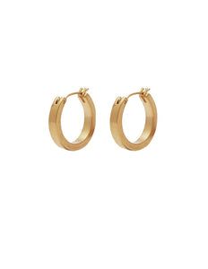 Nordic Muse Matte Gold Hoop Earrings, Small