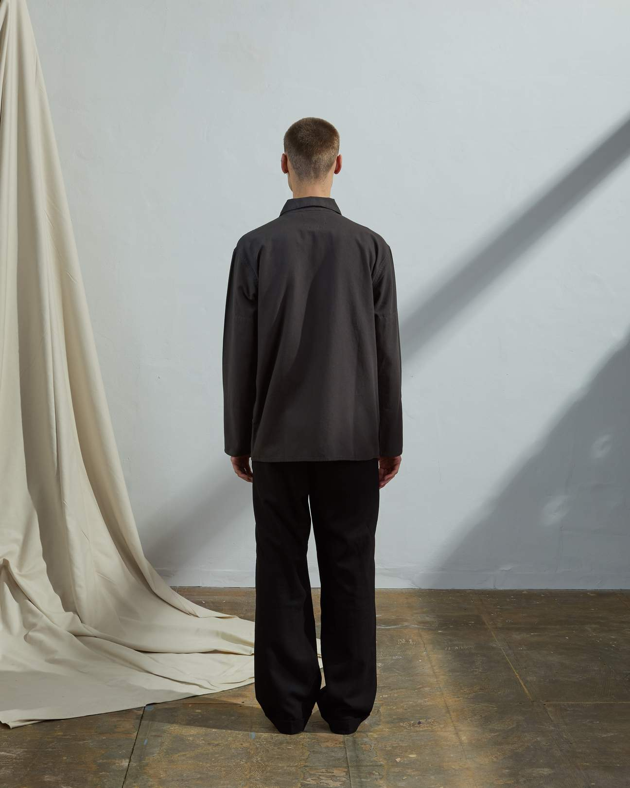 USKEES The #3002 Zip Up Overshirt in Faded Black