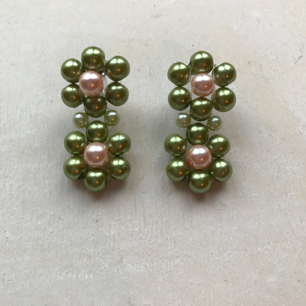 Blóma! X The Norah Store // Double Moss Daisy Earrings