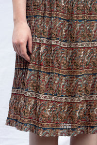 Paisley Pleated Dress (S-M)