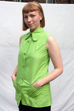 Load image into Gallery viewer, Lime Sleeveless Blouse (S)